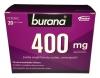 Burana 400 мг, 20 пакетиков - Порошок для перорального раствора Burana 400 мг для лечения симптомов простуды, со вкусом черной смородины, 20 пакетов.