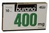 Burana 400 mg, 10 таблеток - Болеутоляющий и жаропонижающий медикамент Burana 400 mg, 10 таблеток