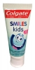 Colgate Smiles Kids Паста зубная для детей 0-5 лет, 50 мл - Зубная паста для детей Colgate Smiles Kids 0-5 лет, 50 мл. Не содержит искусственных красителей. Нежная композиция идеально подходит для детского рта.