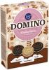 Fazer Печенье 3-и вида, 525 гр - Domino kausilajitelma включает в себя три восхитительных аромата в одной коробке: классический аромат ванили, соблазнительный розовый кардамон и богатый темный тирамису. Идеально подходит в качестве сувенира и в качестве подарка. Доступно в течение ограни