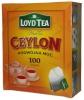 LoydTea Чёрный цейлонский чай, 100 пак. - Чёрный цейлонский чай LoydTea Ceylon, 100 пакетиков по 2 гр. Состав: Смесь сортов черного чая. Страна происхождения: Шри-Ланка. Приготовление: Поместить чайный пакетик в чашку или чайник. Налить кипяток. Настоять в течение 4-5 минут. Хранить в прохладном,