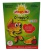 Minisun Omega-3 Junior Рыбий жир и витамин D, 45 шт - Фруктовые, сладкие и мягкие гелевые ломтики Minisun Omega-3 Junior содержащие рыбий жир и витамин D, 45 штук (67,5 г).
