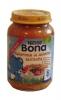 Nestle Bona макароны со свининой, 200гр., с 8мес. - Nestle Bona макароны со свининой, 200гр., с 8-ми месяцев. Состав: вода, приготовленная паста (дурум) 18%, свинина (9%), морковь , лук, перец, томатная паста, рис, растительные масла, белый перец и тимьян. Может содержать немного яйца.