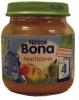 Nestle Bona груша, персик, ананас 125гр., с 4мес. - Фруктовое пюре Nestle Bona груша, персик, ананас 125гр., с 4-х месяцев. Состав: Грушевый сок (26%), персиковое пюре (23%), грушевое пюре (19%), вода, ананас (7,5%), крахмал и витамин С. Продукт не содержит глютен и сахар.  Продукт готов к употреблению