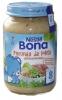 Nestle Bona лосось с овощами, 200 гр., с 8 мес - Nestle Bona лосось с овощами, 200 гр., с 8-ми месяцев. Содержит сбалансированные жирные кислоты омега-3 и омега-6.  Состав: Вода, картофель, лосось (10%), пастернак, морковь, лук-порей, кукуруза, сливки, томат-пюре, растительные масла (рапсовое, подсо