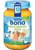Nestle Bona картофель, индейка, морковь, манго, 200гр., с 12мес. - Nestle Bona картофель, индейка, морковь, манго, 200гр., с 12-ти месяцев. Состав: вода, картофель, морковь, мясо индейки (11%), сладкий картофель, лук, манго, растительное масло, рисовая мука, рисовый крахмал, соль (0,2%), и белый перец.