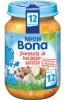 Nestle Bona картофель, морковь, говядина, свинина, 200гр., с 12м - Nestle Bona картофель, морковь, говядина, свинина, 200гр., с 12-ти месяцев. Состав: вода, картофель, морковь, говядина (6,5%), лук, свинина (3%), рисовый крахмал, рисовая мука, растительные масла, соль (0,2%), чеснок, лавровый лист, душистый и черный пере