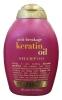 OGX Keratin Oil Shampoo Шампунь, 385 мл - Шампунь OGX Keratin Oil Shampoo богатый кератином, укрепляет и усиливает каждую прядь, увеличивая эластичность и сопротивляемость к поломке в результате чистки и укладки.
