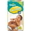 Pampers 3 New Baby 50 шт(4-7кг) - 4 - 7  кг  (  50  шт  )  Подгузники  для  самых  маленьких  серии  New  Baby  соответствуют  особенностям  первой  стадии  развития  ребёнка .  Подгузники  сделаны  из  мягкого  материала , пропускающего  воздух