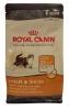 Royal canin feline сухой корм для кошек, 400 гр - Содержит питательные вещества, необходимые для блестящей шерсти и здоровой кожи: Масла сои и огуречника (очень богаты гамма-линоленовой кислотой) и рыбий жир (источник жирных кислот Омега 3) делают шерсть еще более блестящей. Комплекс аминокислот, витамин