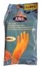 AINO Перчатки р-р L (8-9 см), 1 пара - Перчатки хозяйственные AINO Talouskäsineet, размер Large (8-9 см), 1 пара. Резиновые перчатки, анатомической формы, с шероховатой ладонью для наилучшего сцепления. Ворс хлопок предотвращает потоотделение.