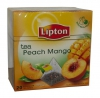 Lipton Чай чёрный (персик, манго, абрикос), 20 шт