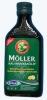 MOLLER рыбий жир вкус лимона (Мёллер), 250 мл - MOLLER рыбий жир со вкусом лимона, с витаминами А,D,E, Омега-3, 250 мл. Для детей с 6-ти месяцев.
